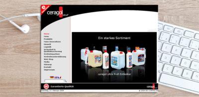 ceragol - Neue Webseite 2007