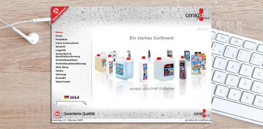 ceragol - Neue Webseite